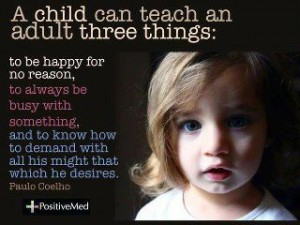 a child can teach an adult 3 things