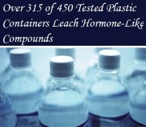 plastic containers leech hormone-like compounds