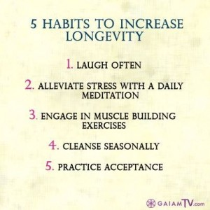 5 habits to increase longevity